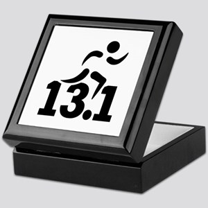 Half marathon runner Keepsake Box